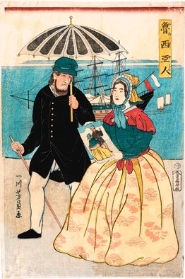 Japanese pic of Russian couple 1861