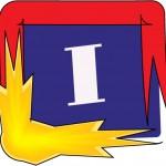 letter I fire square